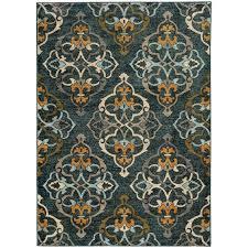 oriental weavers sedona 6368b blue gold area rug