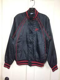 aj1 1980 s 1985 air jordan wings basketball satin er jacket size small black red original logo aj 1 blue tag nike
