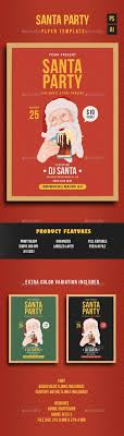 santa party flyer template by lilynthesweetpea graphicriver santa party flyer template holidays events