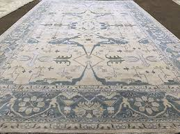 12x18 hand knotted wool rug new oushak area rugs beige blue grey persian 12x19