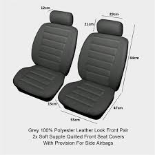 leather fabric car seat covers protectors airbag seats universal fitting