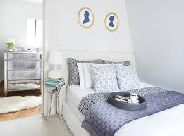folding foam mattress bedroom transitional with blue and white faux fur rug gilt frames mirrored furniture bedroom home office guest room tropical