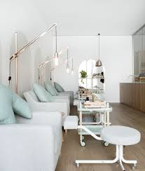 beauty knockout beauty edu opens in melbourne knstrct carefully curated design news nail salon display