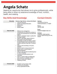 Food Delivery Teen Resume