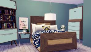 Sims Bedroom Midmod Bedroom Conversion By Rachel Teh Sims