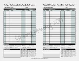 Weight Watchers Point Chart 44 Interpretive Weight Watchers Points Plus Tracker Sheets