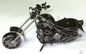 crafted metal art model motorcycle bike chopper motorbike home