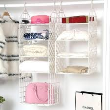 3 shelf hanging closet organizer hanging closet storage