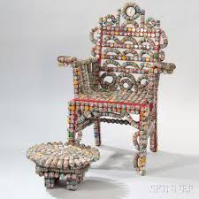 bottle cap furniture. Rick Ladd Bottle Cap Chair And Footstool Furniture
