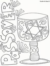Small Picture Passover Coloring Pages Religious Doodles