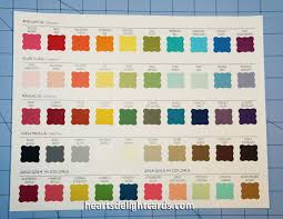 Color Family Chart Stampin Up Color Chart Hearts Delight Cards My Growing