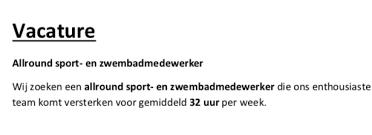 Home Sportcentrum Flidunen Vlieland