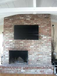 how to run wires for on brick fireplace ideas hang tv wall mount hide