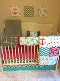 pink and aqua crib bedding nautical baby bedding photo 2 of 5 baby girl nautical crib pink and aqua crib bedding