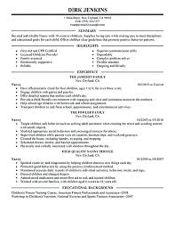 Babysitter Resume Sample Template Mesmerizing Nanny Resume Sample Templates Template Example Babysitting Cv