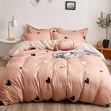 good quality bedding set love heart