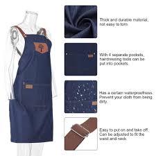 Striated <b>Salon</b> Apron with 2 Pockets <b>Professional</b> Anti static ...