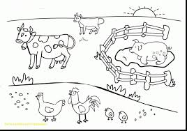 Preschool Printable Farm Colorings Book Animals With Superb Of Free