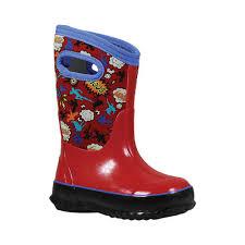 Childrens Bogs Classic Size 4 M Red Multi Classic Superhero