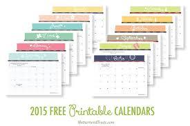 2015 Free Printable Calendars Tricks Of The Motherhood Trade