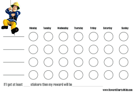 Downloadable Reward Charts Qualified Weekly Behavior Or Chart Chore For Kids An Image Part