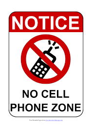 Free Sign No Mobile Phone Signs Poster Template