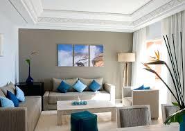 beige and blue bedroom