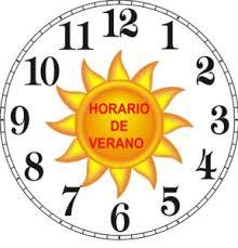 Resultado de imaxes para imagenes de horario de verano reloj