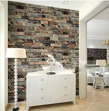 Small Picture Aliexpresscom Buy Stone Brick 3D Wallpaper Bedroom Living Room