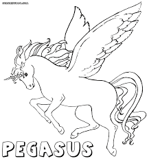 Pegasus Abstract Coloring Pages Print Coloring