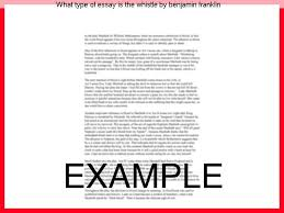 what type of essay is the whistle by benjamin franklin custom  what type of essay is the whistle by benjamin franklin benjamin franklin papers