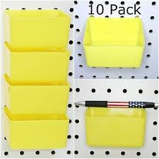 Pegboard storage bins Wall 0796299019860 16 Pack Hanging Pegboard Bin Monocountyinfo 16 Pack Hanging Pegboard Bin Tool Parts Tray Home Organizer Plastic