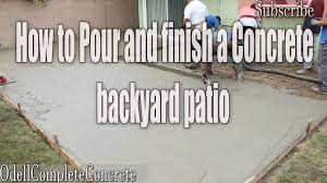 Build A Concrete Patio How To Pour A Backyard Concrete Patio Part 2 Diy Youtube