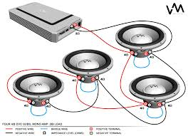 wrg 2785 dual 4 ohm mono amp wiring diagram subwoofer wiring diagram dual 2 ohm awesome how to wire two at for 2 ohm wiring