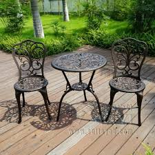 Antique metal outdoor furniture Patio Set New Patio Furniture Modern Design Cast Aluminum Bistro Set In Antique Copper Aliexpress New Patio Furniture Modern Design Cast Aluminum Bistro Set In