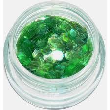 Holografické šestihrany Na Zdobení Nehtů Tmavě Zelené