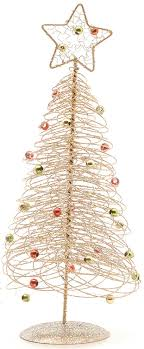 Amazon.com: Spiral Wire Christmas Tree Table Top Decoration - Green:  Clothing