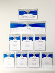 Seating Chart Royal Wedding Royal Blue Wedding Stationery The Cinderella Collection