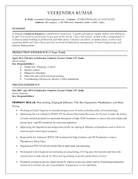 Process Engineer Resume Enchanting Chemical Process Engineer Resume Sample Resume For Process Engineer