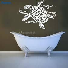 turtle wall decal sea animals tortoise shell wall sticker ocean sea tortoiseshell for bathroom living room sea turtle wall decals