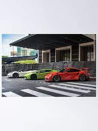 Ferrari Lamborghini Und Porsche Poster Von Ricoliu Redbubble