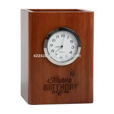 pen holder wooden desk clock pen holder wooden desk clock supplieranufacturers at alibaba com