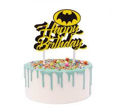 Batman Happy Birthday Acrylic Cake Topper Lollipop Cake Supplies