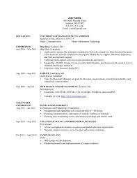 Best Information Technology Resume Information Technology Resume