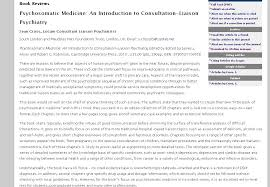 british book review of psychosomatic medicine an introduction to  book review psychosomatic