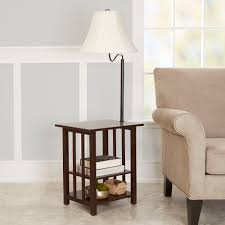 better homes and gardens 3 rack end table floor lamp cfl bulb included com