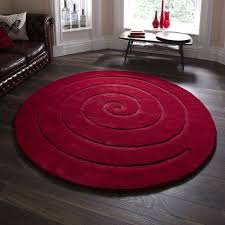 round red contemporary rugs