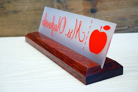 great teacher gift personalized wooden name plate for teachers teacher desk name plate wooden