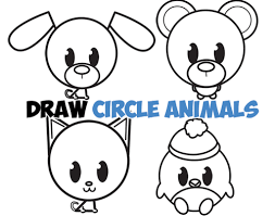 easy animals to draw step by step. Contemporary Step Learn How To Draw Cute Circle Animals With Simple Steps Drawing Lessons For  Kids Throughout Easy To Step By