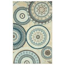 mohawk home forest suzani aqua 8 ft x 10 ft area rug